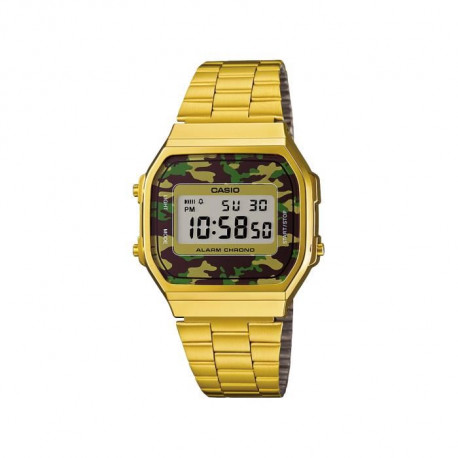 CASIO Montre Quartz A168WEGC-3EF Mixte