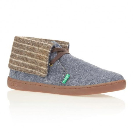 KEEP Baskets Montantes Nuss Chambray - Homme - Bleu