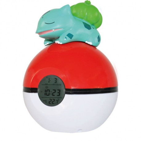 POKEMON Radio-Réveil Lampe Led Bulbasaur