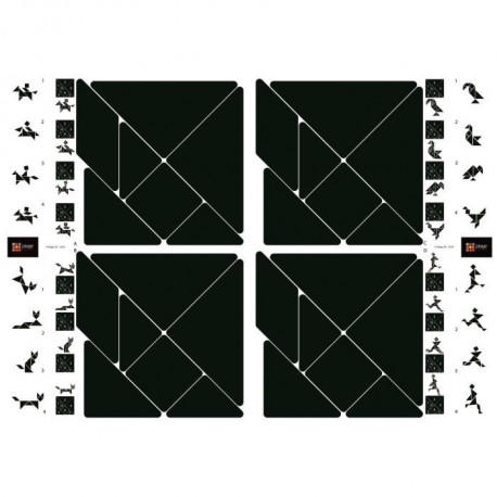 PLAGE Stickers adhésif mural Taille S - Transgrammations2 planches 29,7 x 21 cm, divers motifs