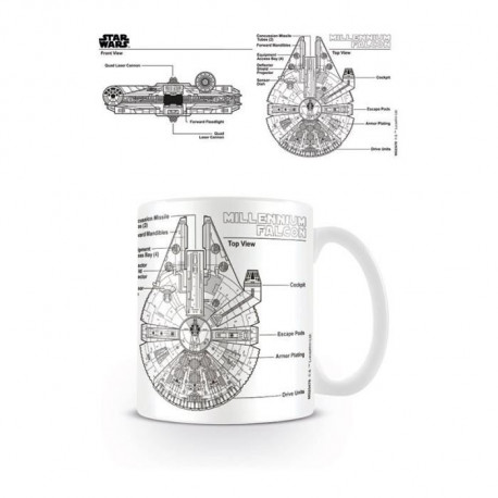 Mug Star Wars Millennium Falcon Sketch