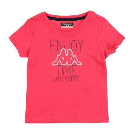 KAPPA T-shirt Monette - Enfant fille - Rose fuchsia