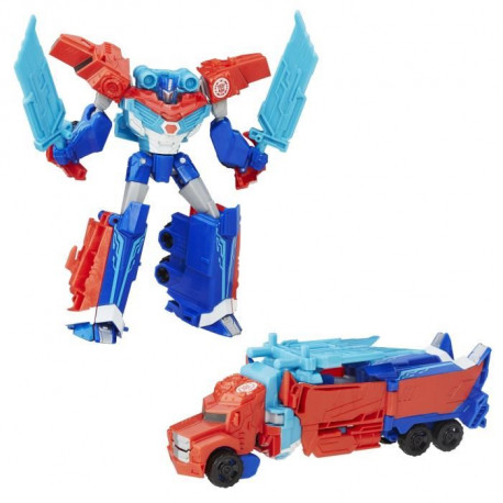TRANSFORMERS Robots in Disguise - Optimus Prime Deluxe Warrior - Figurine 13cm