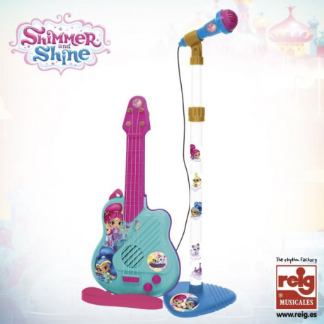 SHINMER AND SHINE Microphone et guitarre - 4 cordes - A piles