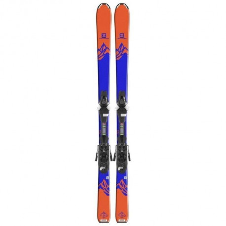 SALOMON Ski E Qst Max Jr M + E L7 B80 Junior Orange et Bleu