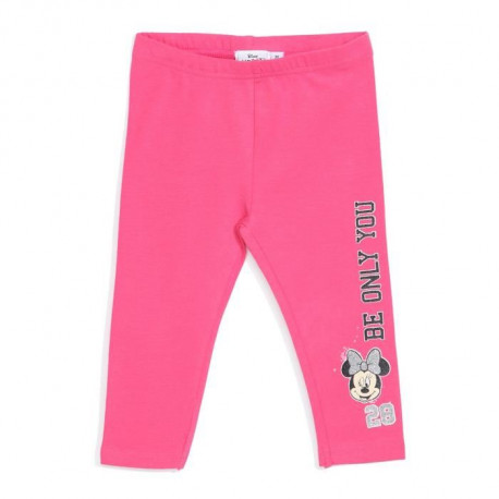 MINNIE Legging Rose Enfant Fille Sérigraphie