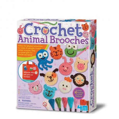 4M CREA Kit crochet broches - Forme d'animaux