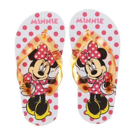 MINNIE Tongs Rouge Enfant Fille
