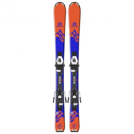 SALOMON Ski E Qst Max Jr S + E C5 J75 Junior Orange et Bleu