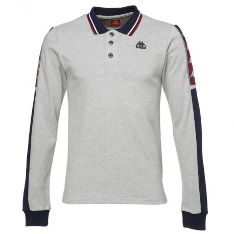 KAPPA Polo Cassius - Homme - Gris