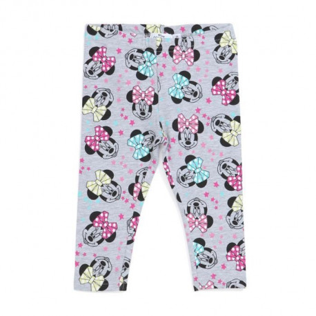 MINNIE Legging Gris Enfant Fille Sérigraphie All Over