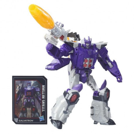 TRANSFORMERS Generations - NUCLEON et GALVATRON - Titans Return Classe Voyageur - Figurine 17,8cm