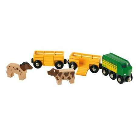 BRIO World  - 33404 - Train Des Animaux De La Ferme