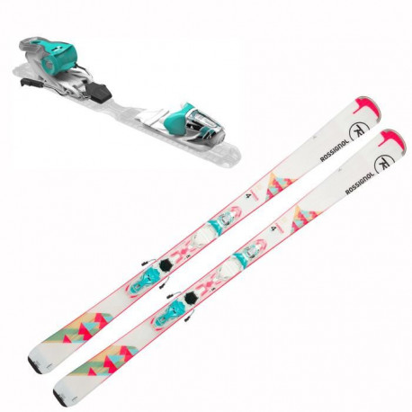 ROSSIGNOL Pack ski Famous 4 + Fixations Xpress W 10 B83