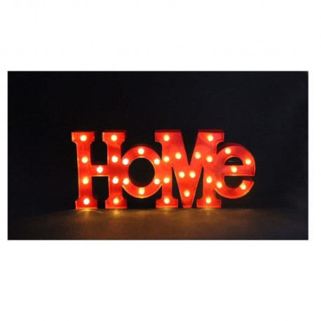 "Mot ""home"" lumineux LED 0,06 W 54x5 cm rouge"