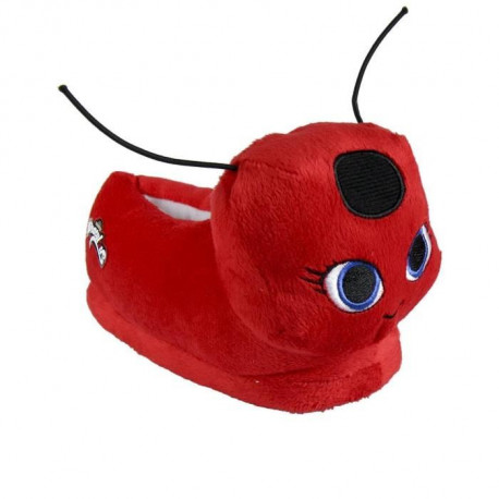 MIRACULOUS LADYBUG Chaussons peluche 3D - Fille - Rouge