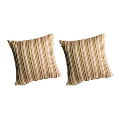 O'CBO Lot de 2 coussins déhoussables MADRAS 42x42 cm - Beige