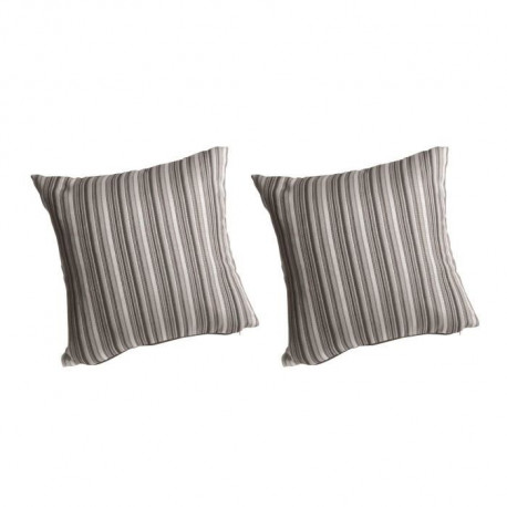 O'CBO Lot de 2 coussins déhoussables MADRAS 42x42 cm - Gris