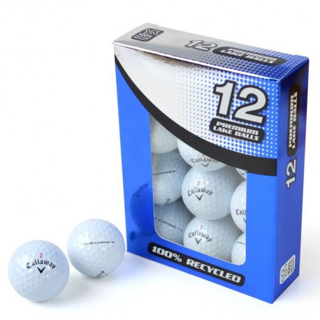 SECOND CHANCE Lot de 12 Balles de Golf Callaway Hex Chrome - Blanc