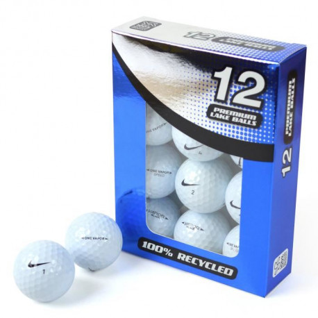 SECOND CHANCE Lot de 12 Balles de Golf Nike One Vapour - Blanc