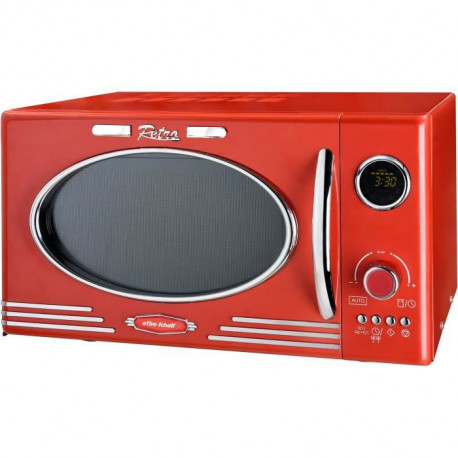EFBE SCHOTT MW2500DG-R - Four micro-ondes grill rouge - 25 L - 900 W - Grill 1000 W - Pose libre