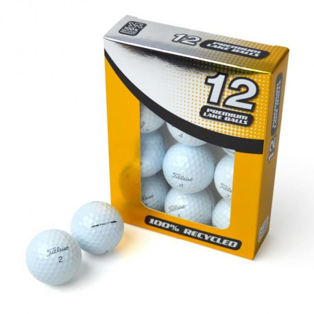 SECOND CHANCE Lot de 12 Balles de Golf Titleist Pro V1X - Blanc