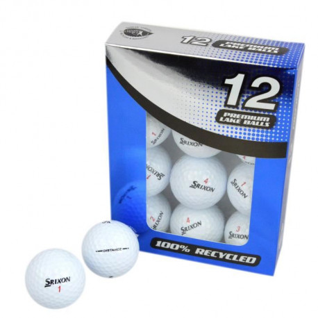 SECOND CHANCE Lot de 12 Balles de Golf Srixon Distance - Blanc