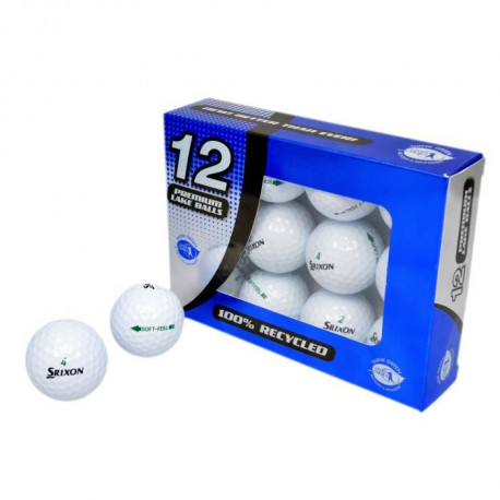 SECOND CHANCE Lot de 12 Balles de Golf Srixon Soft Feel - Blanc