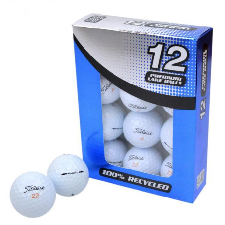 SECOND CHANCE Lot de 12 Balles de Golf Titleist Velocity - Blanc