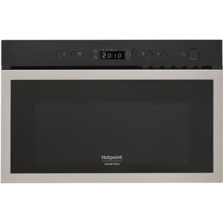 HOTPOINT MH 600 IX Micro-ondes combiné encastrable inox anti-trace - 22L - 750 W - Grill 700 W