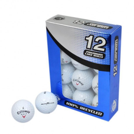 SECOND CHANCE Lot de 12 Balles de Golf Callaway Mix - Blanc