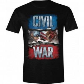 T-shirt Captain America Civil War Noir