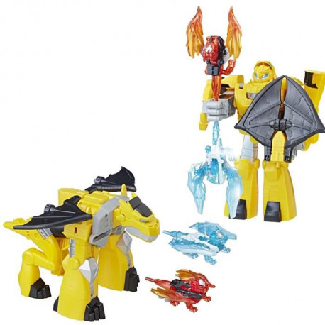TRANSFORMERS Rescue Bots - BUMBLEBEE CHEVALIER GARDIEN The Last Knight - Figurine 25cm