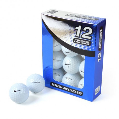 SECOND CHANCE Lot de 12 Balles de Golf Nike Mix - Blanc