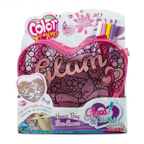 COLOR ME MINE Gloss & Glam Sac Coeur a colorier
