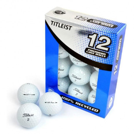 SECOND CHANCE Lot de 12 Balles de Golf Titleist Mix - Blanc