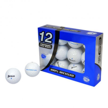 SECOND CHANCE Lot de 12 Balles de Golf Srixon AD333 - Blanc