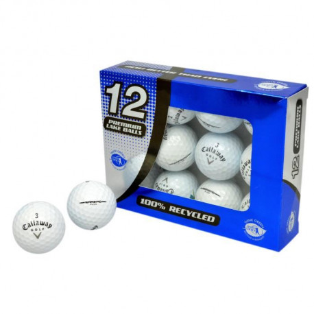 SECOND CHANCE Lot de 12 Balles de Golf Callaway Warbird - Blanc