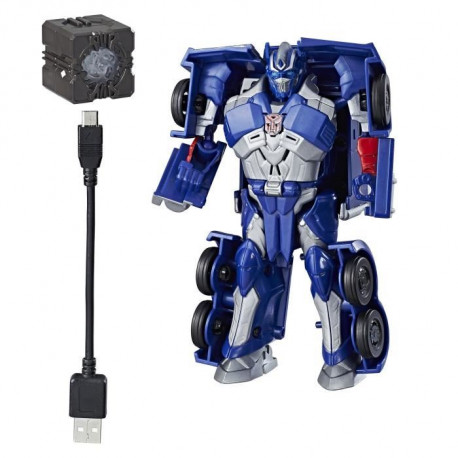 TRANSFORMERS The Last Knight - OPTIMUS PRIME - Allspark Tech Kit de départ - Figurine 13cm