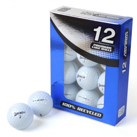 SECOND CHANCE Lot de 12 Balles de Golf Srixon Z Star - Blanc