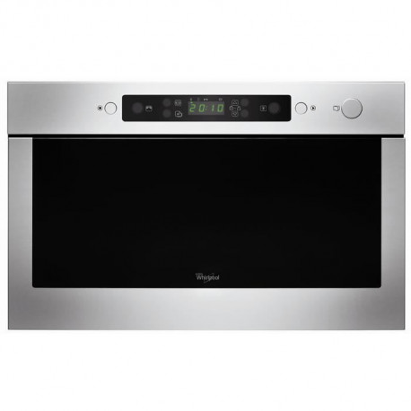 WHIRLPOOL AMW525IX - Micro ondes encastrable inox - 22 L - 750 W - Fonction vapeur