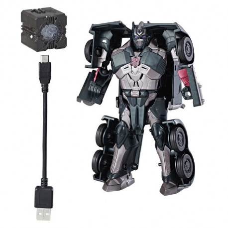 TRANSFORMERS The Last Knight - SHADOW SPARK OPTIMUS PRIME - Allspark Tech Kit de départ - Figurine 13cm