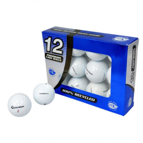 SECOND CHANCE Lot de 12 Balles de Golf Taylormade Burner - Blanc