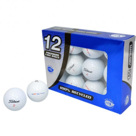 SECOND CHANCE Lot de 12 Balles de Golf Titleist DT Solo - Blanc