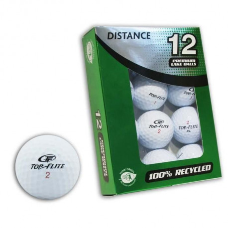 SECOND CHANCE Lot de 12 Balles de Golf Dunlop Mix - Blanc