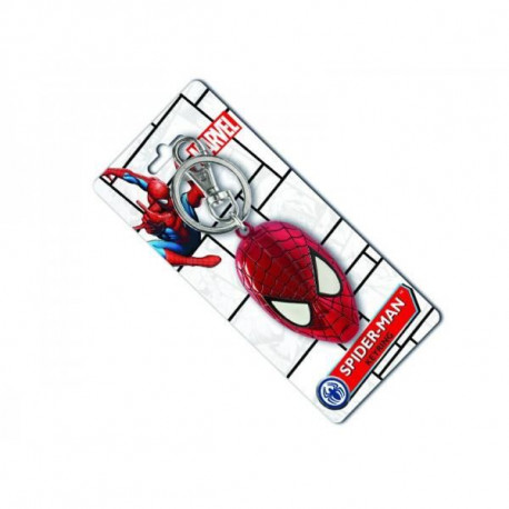 Porte Clé Spiderman Face Metallique