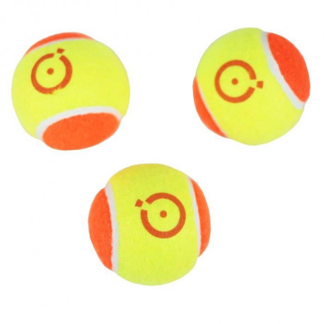 CHRONOSPORT Set de 3 Balles de Tennis Initiation Bicolores en Sachet