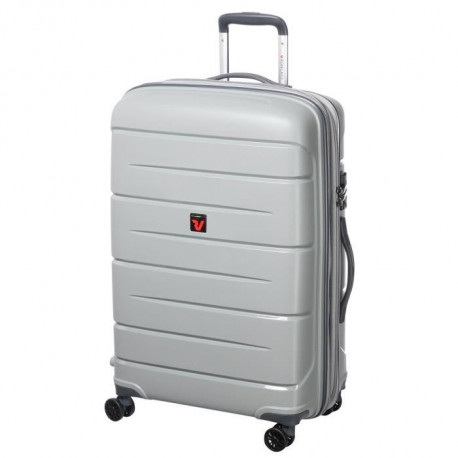 RV RONCATO Valise Rigide Polycarbonate 4 Roues 71 cm FLIGHT DLX Silver