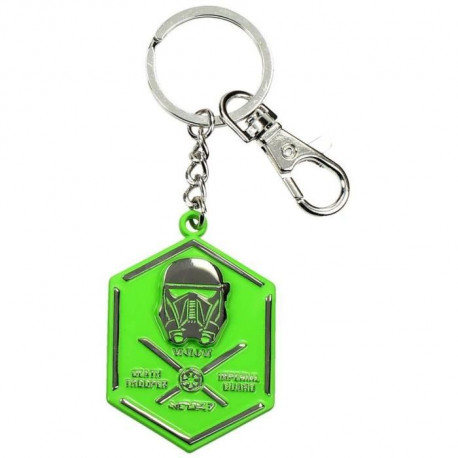 Porte Clé Star Wars Death Trooper Metal Green