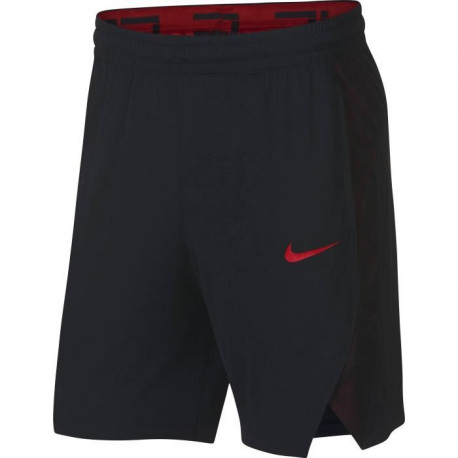 NIKE Short de Basketball Front Court - Homme - Noir